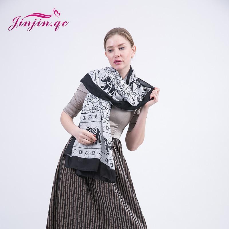 Jinjin.QC 2019 New Fashion Cashew flowers women Scarves and Shawls Cotton Autumn Warm Long Spain Desigual Scarf girls Pashmina