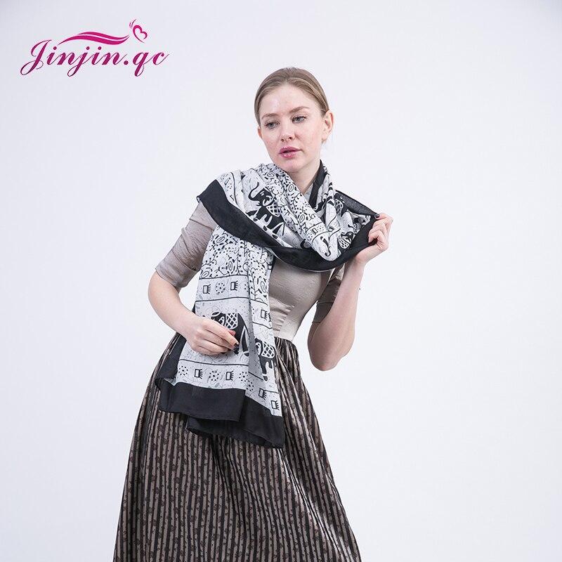 2015 New Fashion Elephant Printed Winter Cotton Scarves Big Size Leopard Printed Pashmina European Style Pentagram Printed Shawl