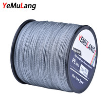 YeMuLang 300M Braided Fishing Lines 4 Stands Multifilament PE Fishing Cord For Fishing Accessories Threads Fly