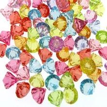 50 혼합 아크릴 다이아몬드 보석면 처리 된 비즈 해적 생일 웨딩 테이블 꽃병 필러 플라스틱 보석 파티 장식 12mm