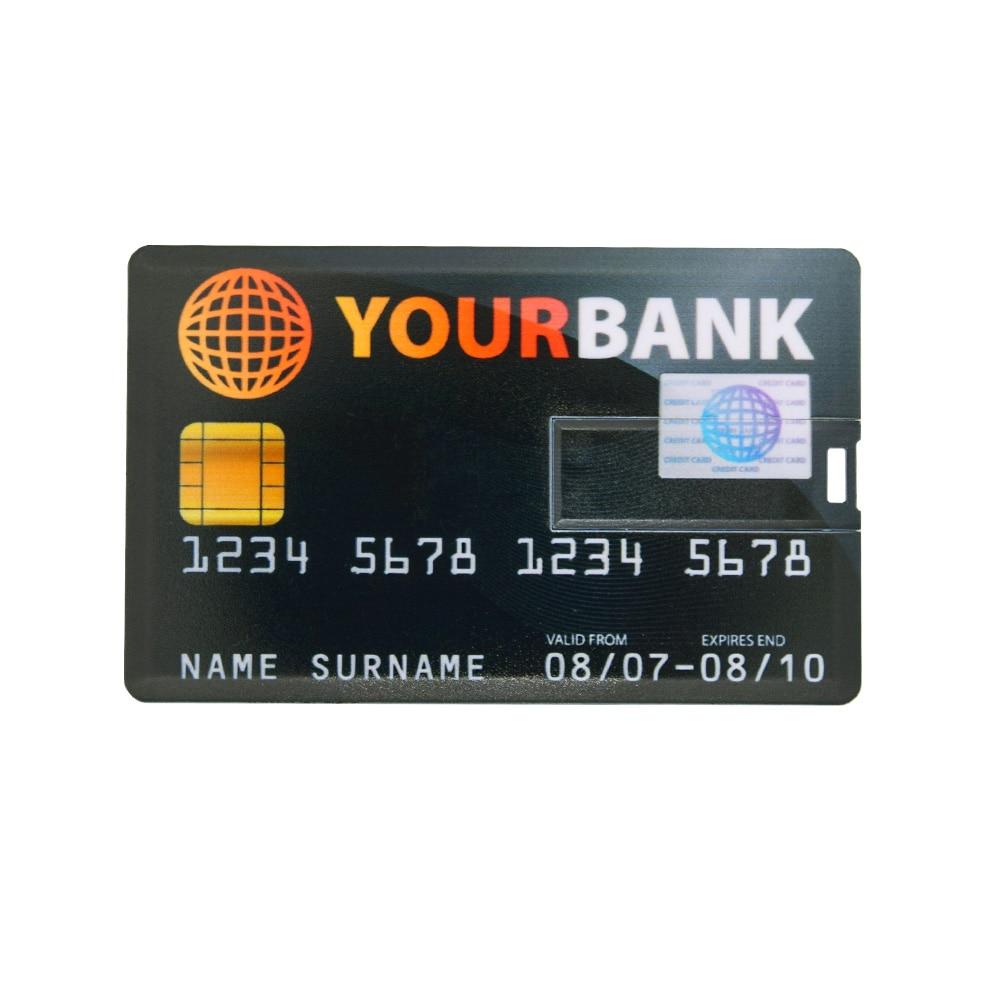 Image 4 - NEW bank Card USB Flash Drive visa cards pen drive 2.0 4GB 8GB 16GB 32GB 64GB USB Credit card Memoria Stick pendrive custom logo-in USB Flash Drives from Computer & Office