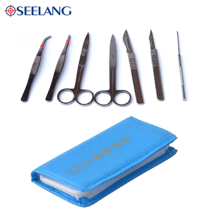 OSEELANG 7 pcs /set dissector Microscope dissecting tool kit Stainless steel for specimen making Microscope parts & accessories(China)