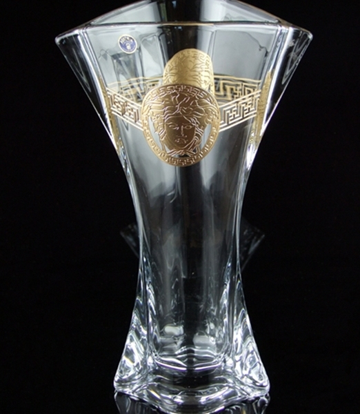 Imported Bohemia Czech Bohemian Crystal Glass Vase Modern Minimalist