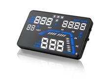 """Barato 5.5 """"Screen Display Cabeça Up Display HUD Compass GPS do Veículo Sistema de Segurança Do Carro Sistema de Alarme de Excesso de Velocidade gps velocímetro"""
