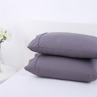 She Awaits 1 Pair Percale Pillow Cases Protector 250 Thread Count Polycotton Pillow Sham 48x73cm