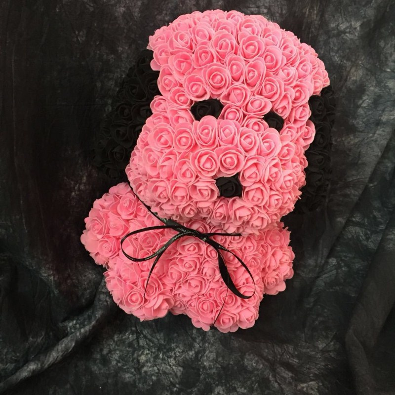 Personnalisé fait à la main qixi cadeau chiot PE mousse rose carlin immortel fleur cadeau boîte pour la saint-valentin livraison gratuite - 5