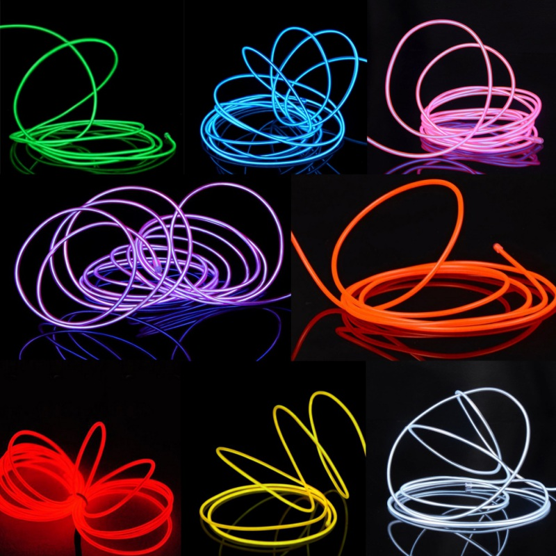 Useful 3m/5m Neon Light With Controller Dance Performance Neon LED Lamp Soft Rope Tube Waterproof LED Line