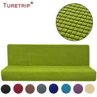 Turetrip 1PC Solid Color Sofa Cover For Sofa Bed Futon Slipcover Full Folding Elastic Armless Stretch Furniture Protector