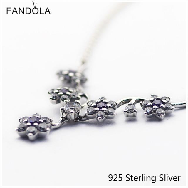Pingentes de Jóias 100% 925 Sterling Silver Compatível Com Europeia Forget Me Not, Roxo Original DIY Encantos CKK