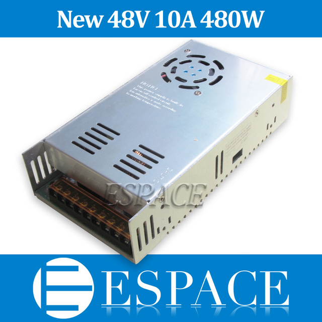 New model  48V 10A 480W Switching Power Supply Driver for LED Strip AC 100-240V Input to DC 48V free shipping