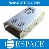 New model 48V 10A 480W Switching Power Supply Driver for LED Strip AC 100 240V Input to DC 48V free shipping