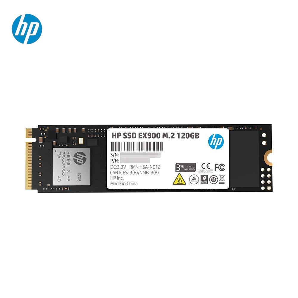 HP SSD 120 GB EX900 M.2 PCIe 3.1x4 NVMe 3D TLC NAND HDD disque ssd interne m.2 SSD pour ordinateur portable de bureau de jeu