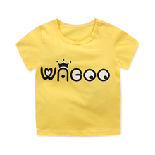 Cartoon T Shirt Boys 2018 Summer Children's Clothing Toddler 100% cotton Tops tee baby Boy Girl Kids T-shirt