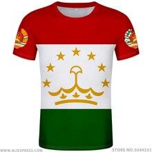 TACIKISTAN için t gömlek diy ücretsiz custom made adı numarası tjk T Shirt ulusal bayrak tj tacik ülke kolej fotoğraf baskı metin 0 giyim