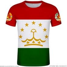 TAJIKISTAN t shirt diy free custom made name number tjk T Shirt nation flag tj tajik country college photo print text 0 clothing