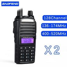 (2pcs)walkie talkie BaoFeng UV-82 Dual-Band 136-174/400-520 MHz FM Ham Two way Radio Transceiver super power baofeng uv82
