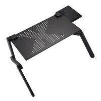 แบบพกพาคอมพิวเตอร์ปรับพับโต๊ะแล็ปท็อปโต๊ะคอมพิวเตอร์ mesa para โน้ตบุ๊คขาตั้งถาดสำหรับเตียงโซ...