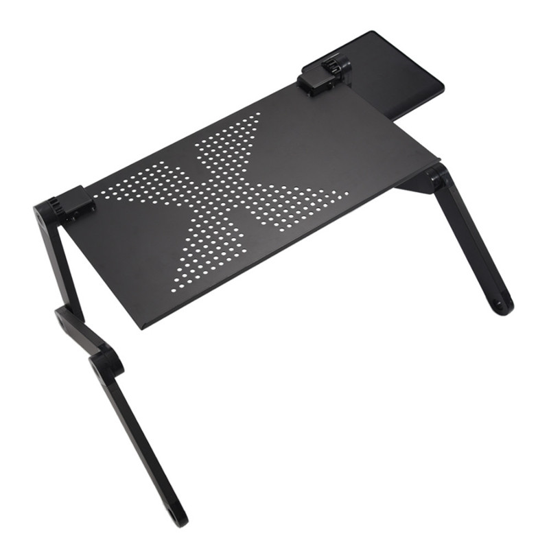 Portable Computer Desks Adjustable Folding Table For Laptop Desk Computer Mesa Para Notebook Stand Tray For Sofa Bed Black