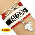 ( 10 unids/lote ) alta calidad infinito amor NFL Atlanta Falcons pulsera del equipo de fútbol negro rojo blanco cualquier estilo Themes