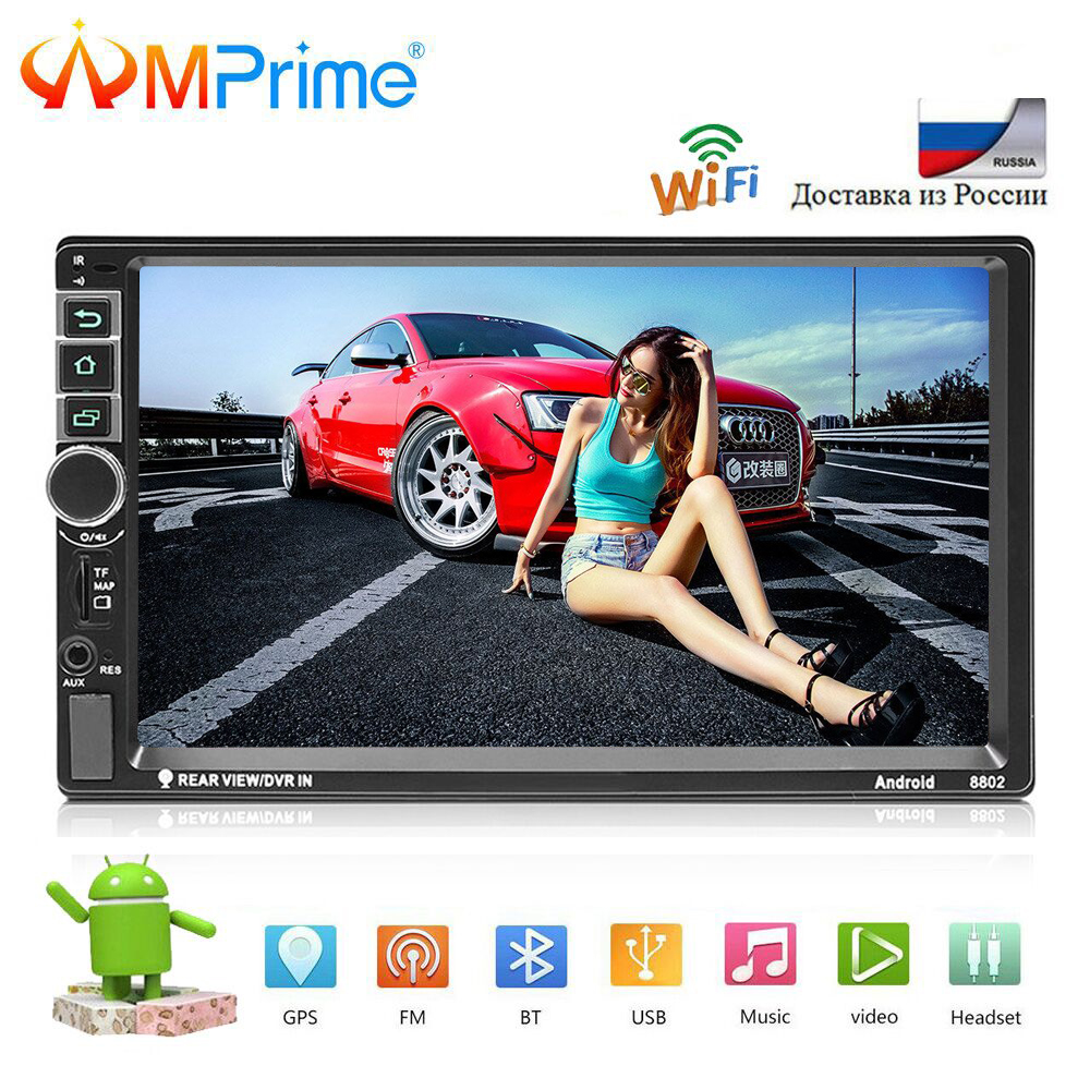 AMPrime 2din Autoradio Android Car Multimedia Player 2 din Universal GPS Mirrorlink Car Radio Wifi Bluetooth Stereo Audio Player