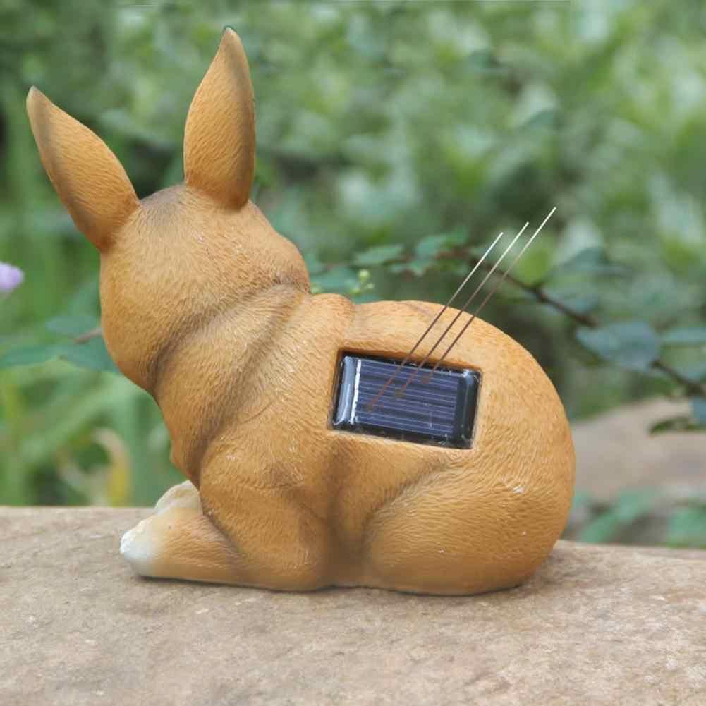 Светодиодный водонепроницаемый кролик в форме солнечной энергии Лампа Пейзаж орнамент мультфильм животных подземный свет сад двора Декор