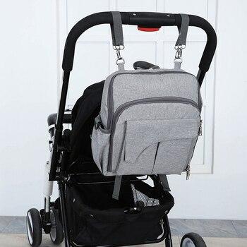 Sac à Dos Pour Bébé   Chaise Fixe Mode Momie Maternité Bébé Nappy Sac à Dos Usb Imperméable Infirmière Couches Sacs Pour Maman Bébé Poussette Organisateur