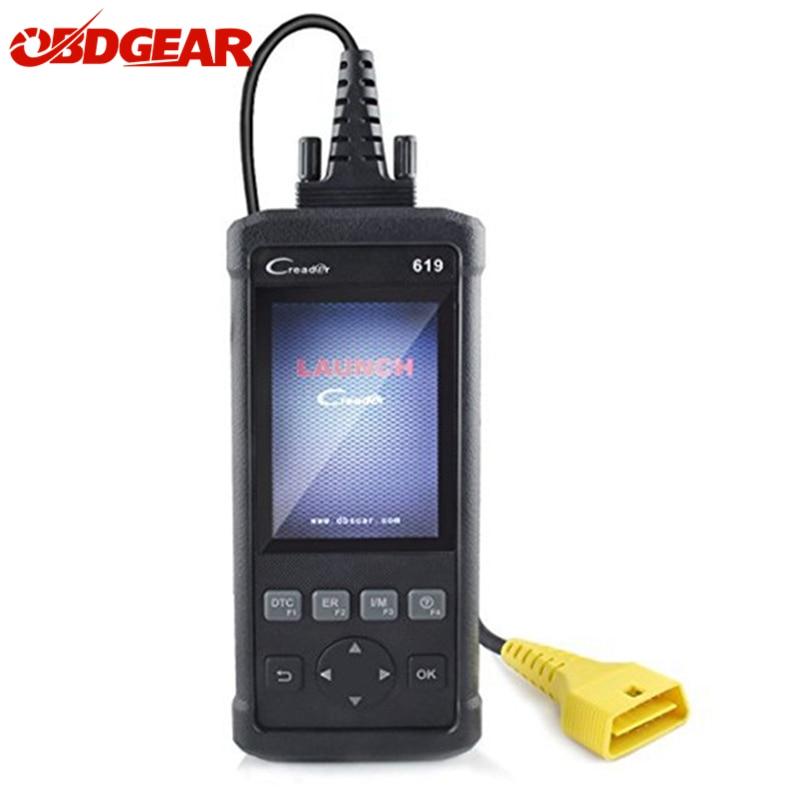 2019 Melhor ODB 2 OBD2 Automóveis Scanner Lançamento CReader 619 CR619 OBD2 Suporte ABS SRS Airbag de Diagnóstico Do Carro do Scanner Automotivo ferramenta