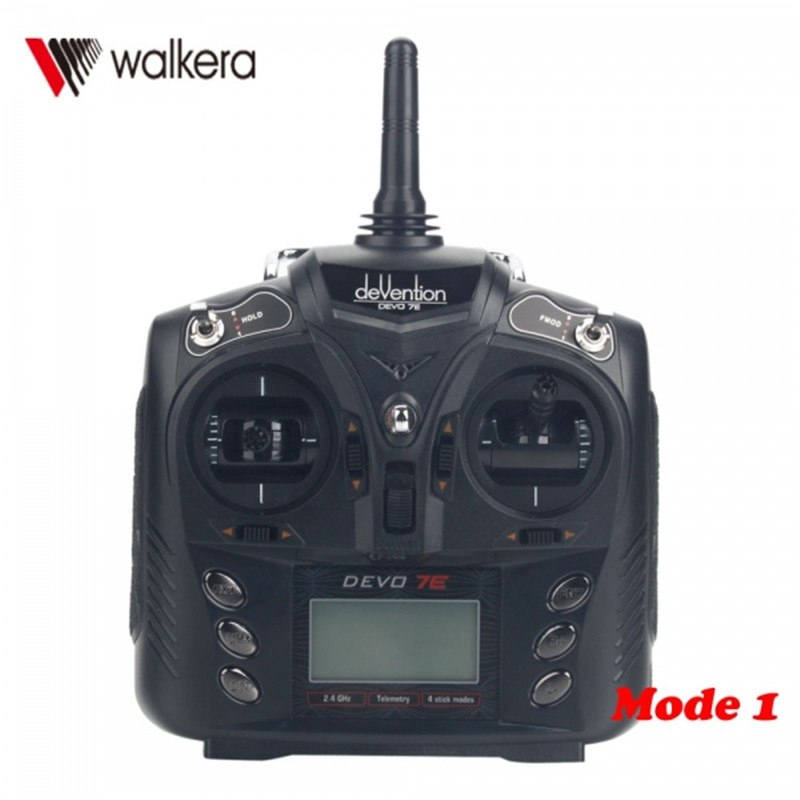 ФОТО Wholesale Walkera Devo 7E 7CH Transmitter Mode 1 Without Receiver For RC Helicopter Spare Parts