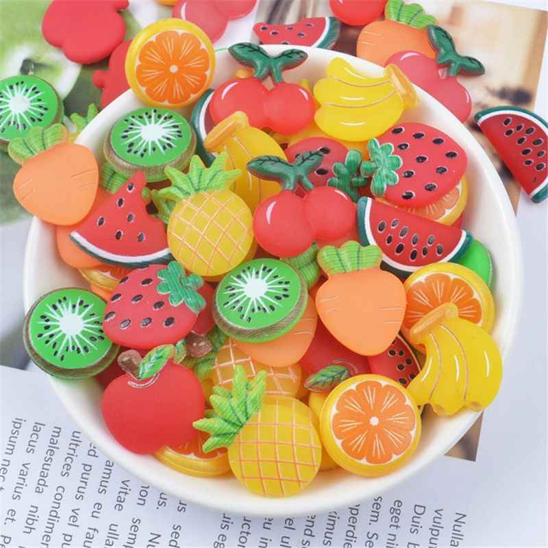3pcs Rubber Fruit Slices Slime Charms Slime Supplies For Fluffy Slime DIY Clear Slime Accessories Putty Clay Toys Kids
