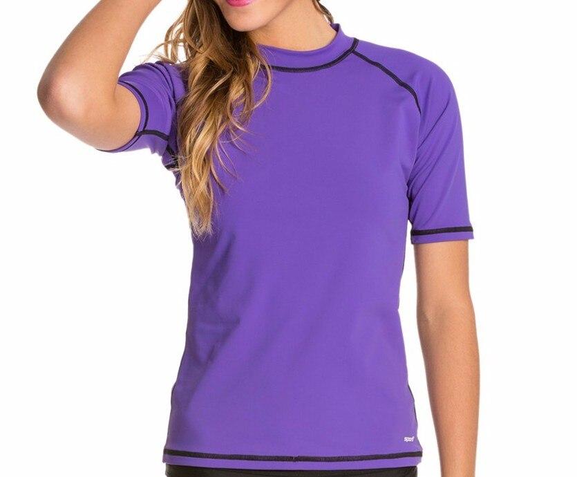 Upf 50 sun protection women rash guard surf shirts for What is a rash shirt