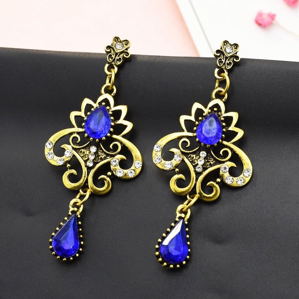 Long Bar Earrings Vintage Jewellery Crystal Dangle Earrings