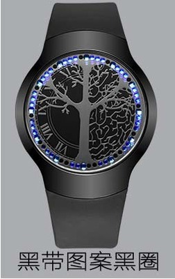 Anime touch-screen bracelets <font><b>LED</b></font> to the tree of life ball type touch screen watch