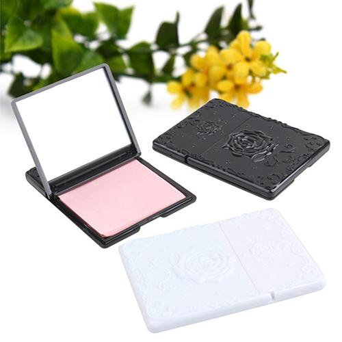 50Sheets Women's Face Oil Absorbing Paper With Mirror Case Makeup Beauty Tool Facial Tissue