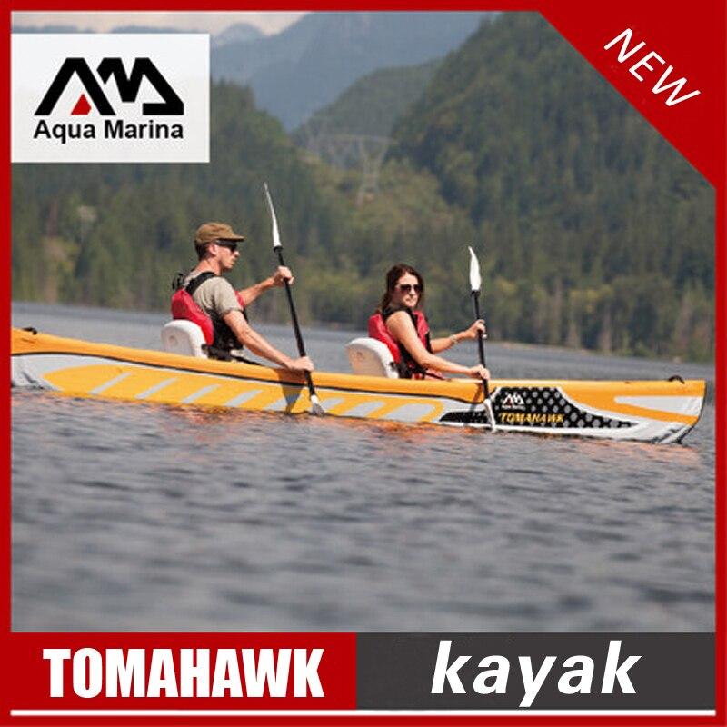 Aqua Marina TOMAHAW inflatable kayak boat canoe pvc dinghy raft aluminium paddle pump seat pressure gauge