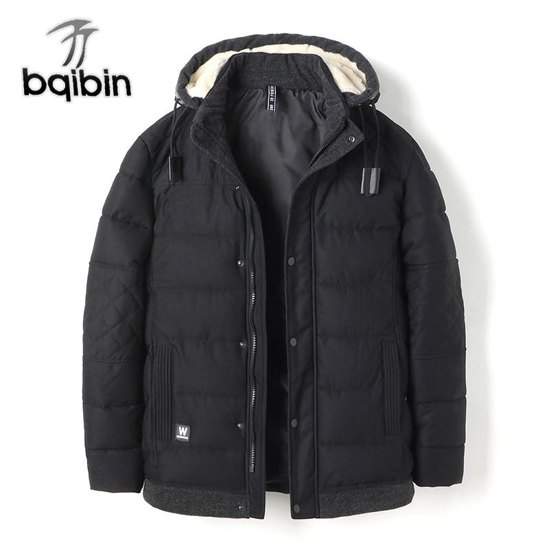 Mens Winter Jackets Coats 2017 New Thicken Warm Parka Hooded Cotton-Padded Male Parka Long Coat Windbreak Snow Outwear Parkas