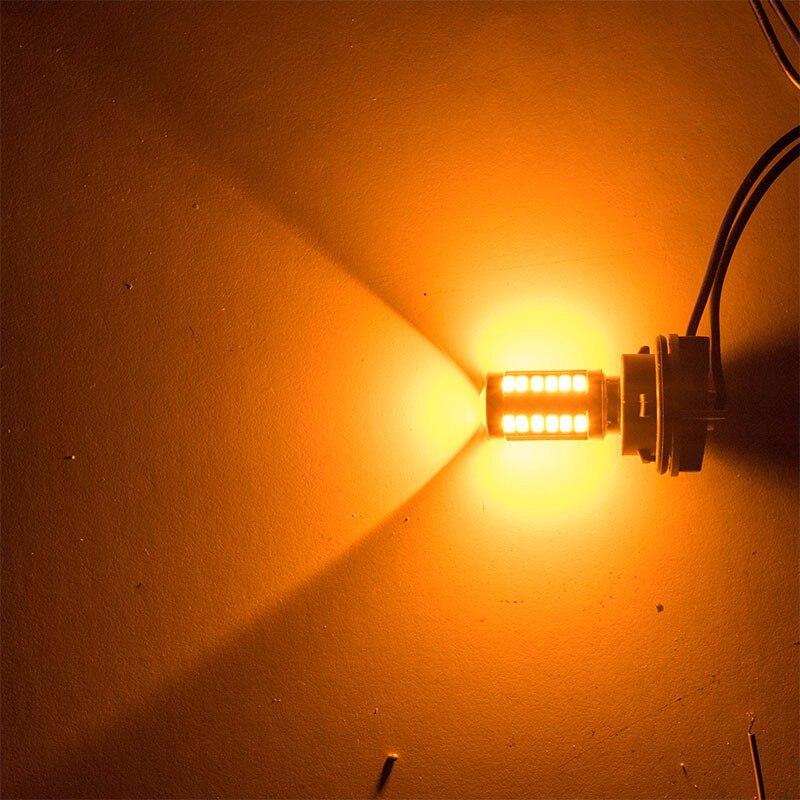 חלקי חילוף bauknecht ASLENT 1157 P21 / 5W BAY15D סופר ברייט 33 SMD 5630 5730 בלם אוטומטי LED אורות בשעות היום מכונית ערפל המנורה פועל להפסיק נורות 12V (5)