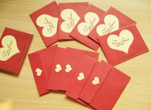 10pcs/lot Mini Romantic Red Heart Envelope Sweet Love Postcard Greeting Card Gift Decoration