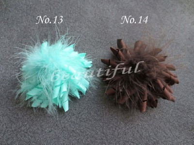 20 шт перьев коркер Topknot аксессуары для волос, бантики
