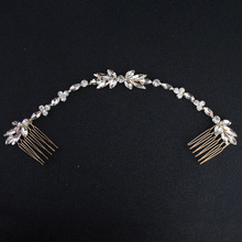Wedding Scattered Rhinestone Headband Bridal Chain Bride Com