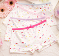 Kiqoo 6pcs/lot New 2016 Girls Cotton Underwear Children's Summer Cute Cartoon Bear Baby Girls Underwear Boxer