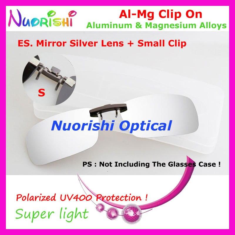 10 шт. сплава al-mg поляризованные Очки очков 7 цветов UV400 линзы клип на для малого и среднего Размеры зажимы cp07 - Цвет линз: ES Mirror Silver