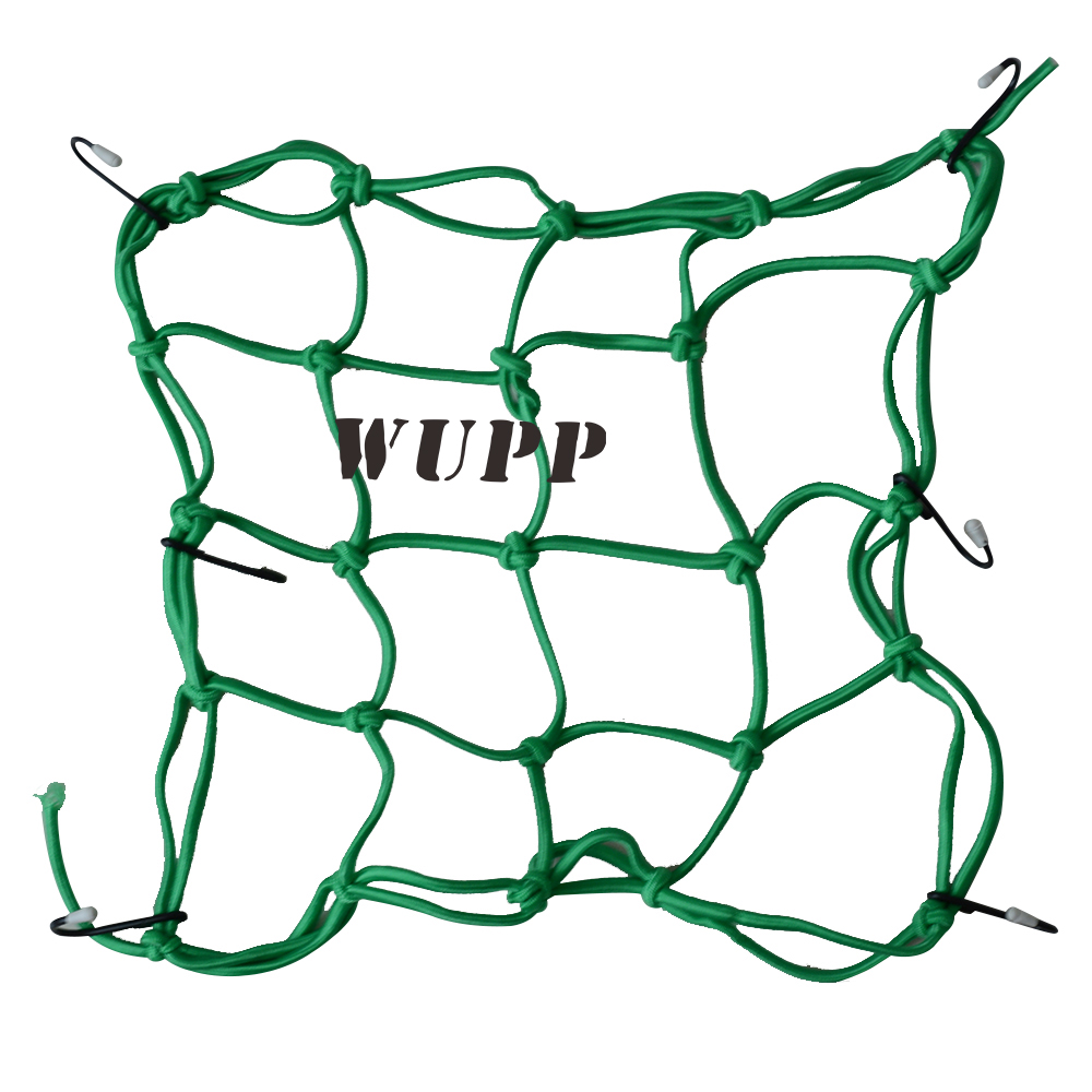WUPP Motorcycle Motorbike Cargo Net Adjustable Plastic Hooks Cargo Net For Motorcycle 300X30CM Black/ Blue/ Red/ Yellow/ Green