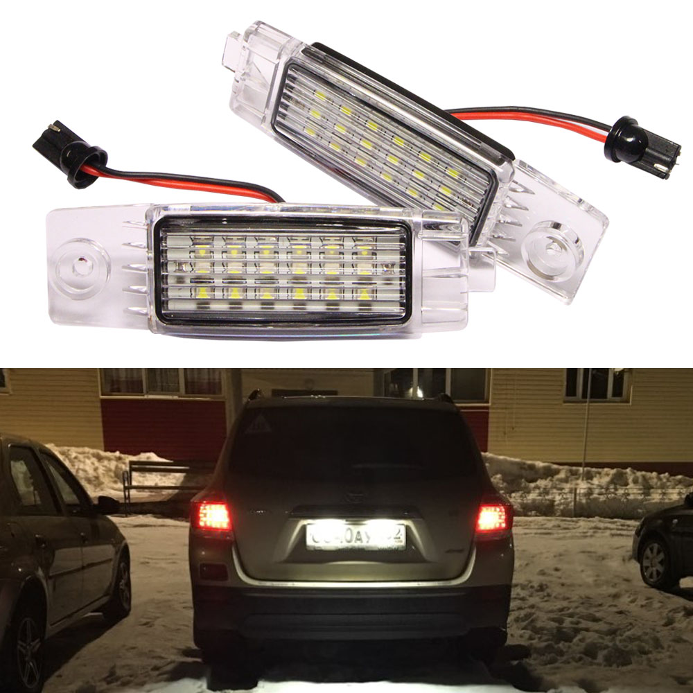 цена на 2Pcs LED Number License Plate Light Lamp for TOYOTA Hiace S.B.V/Highlander/RAV4/Land Cruiser 200/For Lexus RX300/For Scion XB