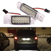 2Pcs LED Number License Plate Light Lamp for TOYOTA Hiace S.B.V/Highlander/RAV4/Land Cruiser 200/For Lexus RX300/For Scion XB