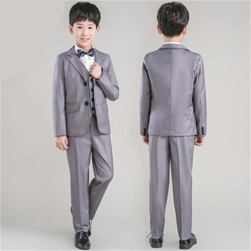 все цены на 2018 new fashion gray baby boys suit kids blazers boy suit for weddings prom formal spring autumn wedding dress boy suits онлайн