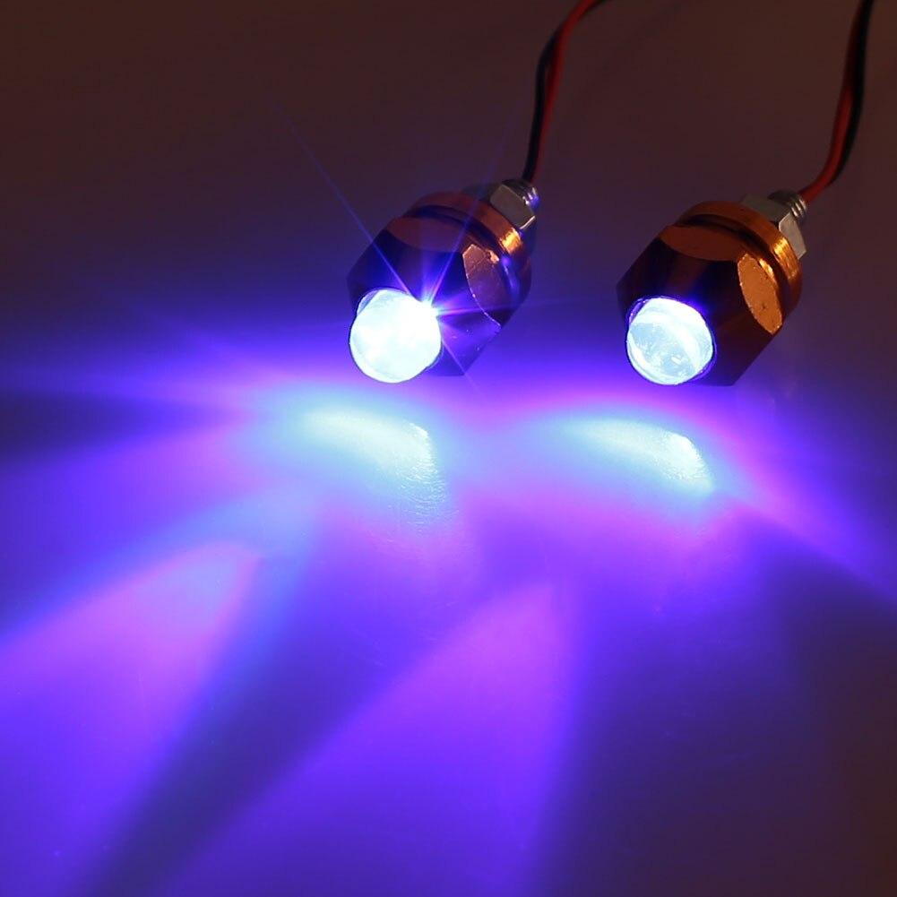 Vehemo для мотоцикла, 2 шт. сигнальный светильник, световой индикатор, красочная сигнальная лампа, лампа для номерного знака, универсальная лампа для мотоциклов