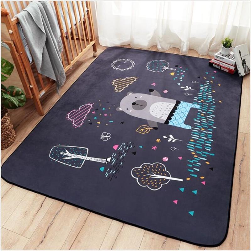 AOVOLL Cartoon enfants tapis de jeu bébé ramper tapis pour salon tapis chambre tapis tapis de sol épais bébé ramper tapis