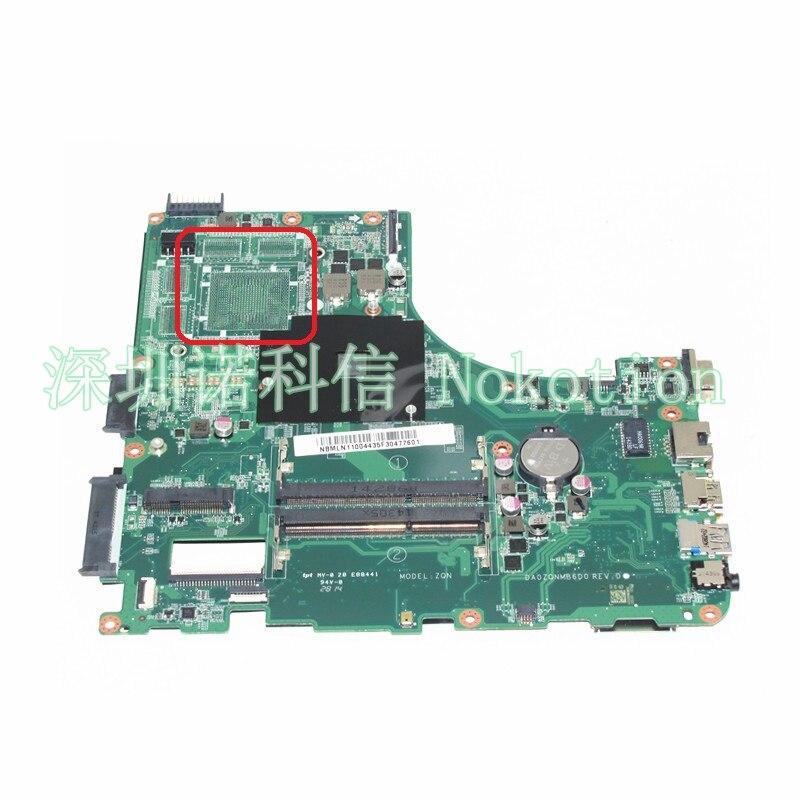 NOKOTION NBMLN11004 NB.MLN11.004 DA0ZQNMB6D0 For acer aspire E5-421 E5-421G Laptop motherboard A4-6210M ddr3 nbmny11002 nb mny11 002 for acer aspire e5 511 laptop motherboard z5wal la b211p n2940 cpu ddr3l