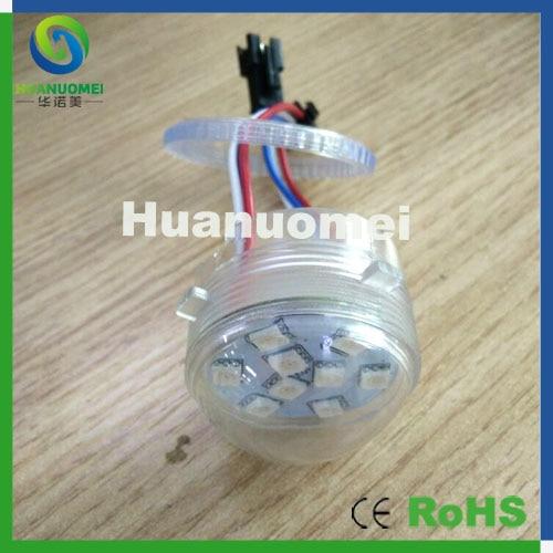 Free Shipping diameter 40mm,waterproof 50pcs 5050 Led Pixel Module Full Color Led Fairground Light