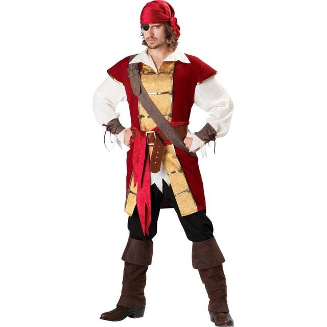 Swashbuckler Premier Adult Costumesburgundy Gold Jacket With